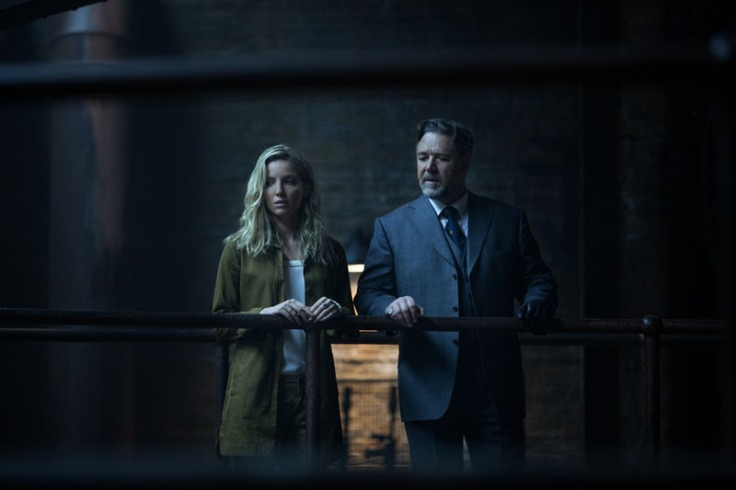 Annabelle Wallis and Russel Crowe surveying the damages and reactions post-release.